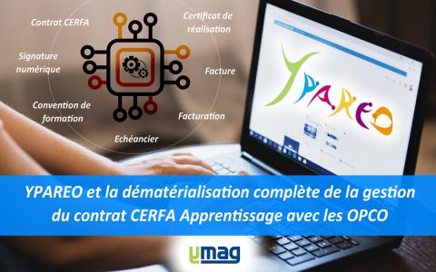 digitalisation contrat cerfa apprentissage OPCO avec logiciel YPAREO de gestion de CFA