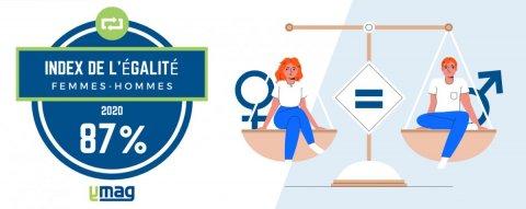 Index égalité professionnelle femmes hommes 2020 entreprise YMAG